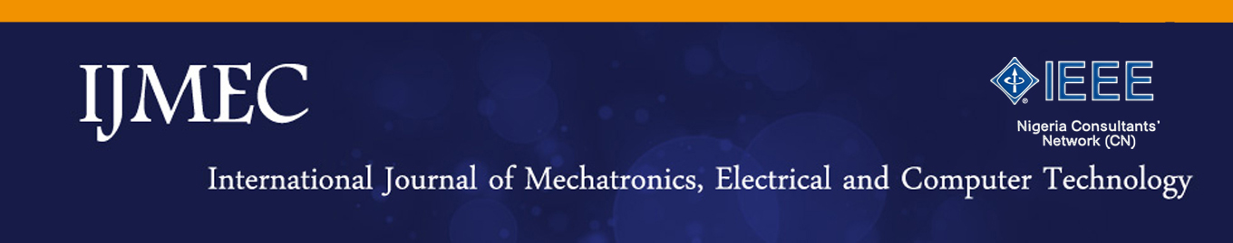 IJMEC - International Journal of Mechatronics, Electrical and Computer Technology